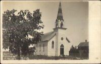 Henning MN United Church c1910 Real Photo Postcard