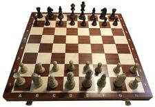 "Wood Tournament Chess Set 6 -  Folding 21"" Board, 2 1/4"" Squares, 3 3/4"" King"