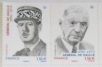 2 TIMBRE  DIPTYQUES Général de Gaulle 1890/1970 /  NEUF** FRANCE 2020 / STAMP