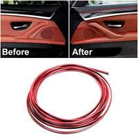 Universal Red Edge Gap Line Car Interior Accessories Molding Garnish 5M Tools
