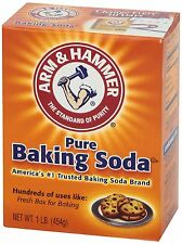 ARM & HAMMER PURE BAKING SODA Large 1 LB each 454g Exp Date 2019