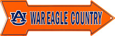 "Auburn Tigers War Eagle Country Arrow Sign 6""x20"" Man Cave Wall Sign"