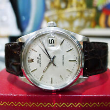 Mens Vintage ROLEX Oyster Date Precision 6694 Stainless Steel Watch Circa 1967
