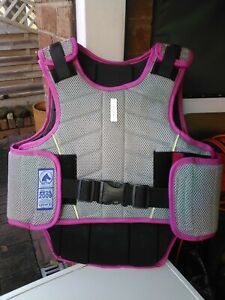 Harry Hall Horse Silver with pink edging riding body protector child level 3 XL