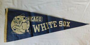 Rare 1940s CHICAGO WHITE SOX  Pennant Flag - Illinois Baseball