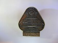 1974 INDIANAPOLIS 500 BRONZE BADGE JOHNNY RUTHERFORD WIN INDY CAR MOTOR SPEEDWAY