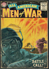 ALL AMERICAN MEN OF WAR  35  GD/VG/3.5  -  Awesome Greytone cover from 1956!