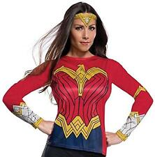 Wonder Woman Shirt Tiara Justice League Fancy Dress Up Halloween Adult Costume
