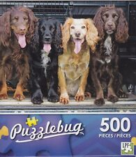 NEW Puzzlebug 500 Piece Jigsaw Puzzle ~ Cocker Spaniels Sitting in Truck