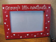 GRAMMYS LITTLE SWEETHEARTS  Valentines Day Grandma Nana love picture photo frame