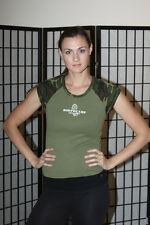 MCRD San Diego Boot Camp Challenge 06 Cap Sleeve Women's T Shirt- camo- large