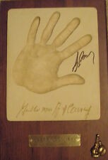 GERRY COONEY AUTOGRAPHED SIGNED HAND CAST BOXING GLOVE PLAQUE + 11x14