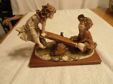CAPODIMONTE-- SEE SAW-ARMANI 1970'S ARTIST PROOF--MINT==DETAIL IS BREATHTAKING