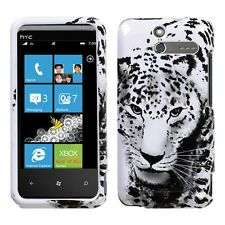Snow Leopard Hard Protector Case Snap on Phone Cover for U.S Cellular HTC 7 Pro