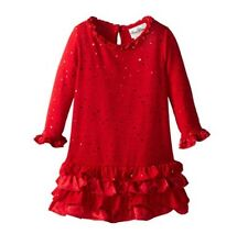 "NEW ""DAZZLING RUBY RUFFLES"" Holiday Dress Girls 6 Winter Clothes Rare Editions"