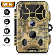Campark WLAN Bluetooth Wildkamera 20MP 1296P IR Nachtsicht Jagdkamera Waterproof