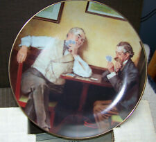 "Lot of 6 Norman Rockwell Collector Plates ""Golden Moments"" Knowles Fine China"