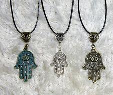 Nazar Hand der Fatima Hamsa Halskette antik silberfarben gross