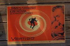 Vertigo Lobby Card Poster James Stewart Kim Novak In A Alfred Hitchcock