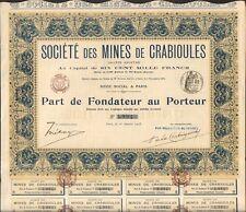 RARE => action: Mines de CRABIOULES (PYRÉNÉES) (F)
