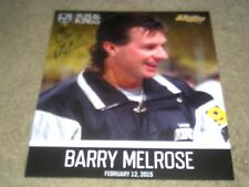 Barry Melrose Los Angeles Kings Legend Autographed Poster from 2/12/2015