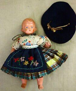 "Antique or Vintage Schildkrot Turtle Mark Celluloid German Doll 5"""