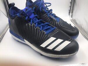 ADIDAS BOOST ICON 3 BASEBALL CLEATS METAL B39162 ROYAL BLUE BLACK MENS SIZE 13
