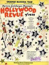 ORANGE BLOSSOM TIME Music Sheet-1929-MGM HOLLYWOOD REVUE-CRAWFORD/GILBERT/DAVIES