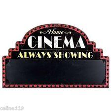 "HOME THEATER   ""CINEMA CHALKBOARD""  ENTERTAINMENT ROOM DECOR"