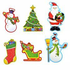 Christmas Cards Xmas Tree Santa Claus Wall Sticker Window Home DIY Decal Decor