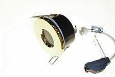 3 x Recessed downlights bathroom shower brass IP65 LV halogen BELL new