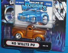 2002 MUSCLE MACHINES '40 Willys PU Pickup Col.#02-18 Real Riders 1940