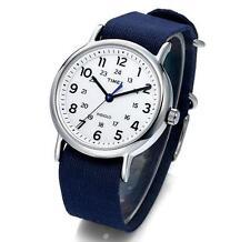 TIMEX TW2P65800 Weekender Unisex Wristwatch 38mm Quartz Fabric Watch, Indiglo