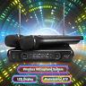 2 Channel Professional VHF Wireless Dual Microphone Cordless Handheld Mic KTV