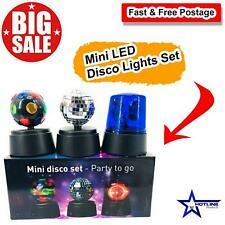 Home Mini LED Disco Lights Set | Disco Party Stage Lightings Balls Crystal Magic