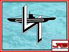 2nd Flotilla Emblem Vinyl Sticker in Black and White