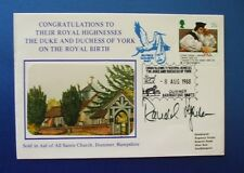 1988 ROYAL BIRTH PRINCESS BEATRICE COVER SIGNED BY RONALD FERGUSON