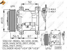 NRF Kompressor, Klimaanlage für Klimaanlage 32227