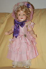 "Vintage 22"" Little Colonel Shirley Temple Composition Doll With Diamond Mark"