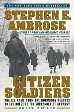 Citizen Soldiers by Stephen E Ambrose a paperback book FREE SHIPPING THE US ARMY