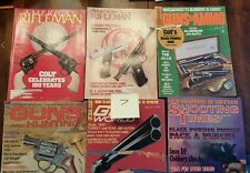 American Rifleman Shooting Times Guns and Ammo Ducks unlimited Deer Gear lot