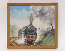"Splendid Railway Painting by ""Malcolm Root"" Train Art - Locomotive Oil on Canvas"