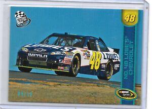 2011 PRESS PASS BLUE SUPER RARE 9/10 JIMMIE JOHNSON NASCAR RACING NICE RARE CARD