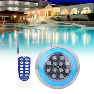 Underwater RGB Swimming Pool Pond Light LED Bright Spa Lamp Wall Mount & Remote