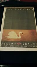Van Morrison Avalon Sunset Rare Original U.K. Promo Poster Ad Framed!