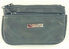 MENS LADIES QUALITY GENUINE LEATHER COIN CHANGE POUCH KEYS PURSE WALLET 1464