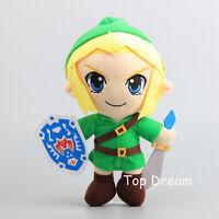 Anime LINK The Legend of Zelda Plush Doll Soft Stuffed Toy 11'' Figure Xmas Gift