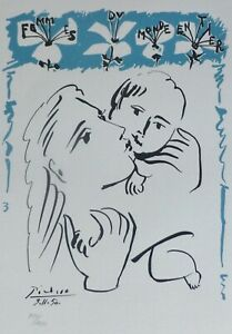 PABLO PICASSO FEMMES DU MONDE ENTIER SIGNED HAND NUMBERED 431/1000 LITHOGRAPH