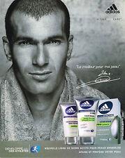 PUBLICITE ADVERTISING 114  2005  ADIDAS  after-shave ligne homme  Z.  ZIDANE