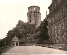 Allemagne, Heidelberg, Der Altan und der Thurm  Vintage print.  Photomécanique